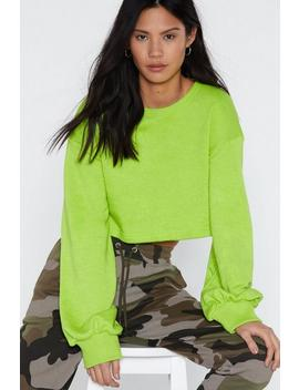 Cropped Neon Sweat by Nasty Gal