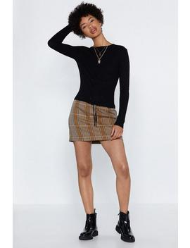 Right Lace Up Your Alley Sweater by Nasty Gal