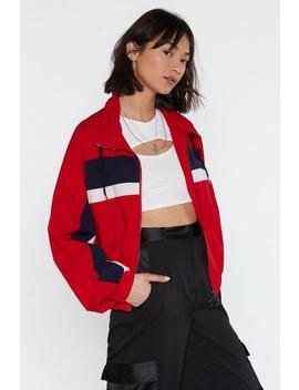 Sporty Stripe Track Jacket by Nasty Gal
