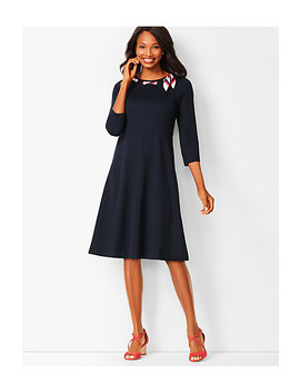 Ponte Fit & Flare Dress by Talbots