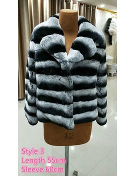 Wholesale Promotion Real Fur Coats Warm Stand Collar Short Fur Jacket Nature Chinchilla Rex Rabbit Furs Fashion Winter Lady Tops by The.Fur.Life
