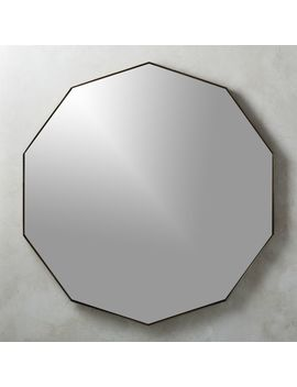 Geo Brass Geometric Wall Mirror by Crate&Barrel