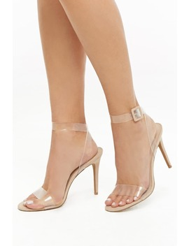 Clear Vinyl Trim Heels by Forever 21