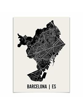 Barcelona Map Art Print By Mr City Printing by Mr City Printing