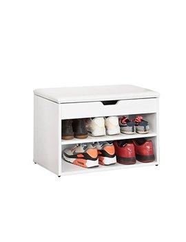 So Buy® Fsr25 W Schuhbank Mit Sitzfläche Sitzbank Schuhregal Schuhschrank, Schuhtruhe Weiß Bht Ca.: 60x44x30cm by Amazon