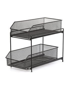 Nex 2 Tier Sliding Basket Organizer Drawer Organizer (Dark Brown) by Nex