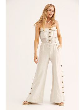 Aluaro Safari Drawstring Jumpsuit by Free People