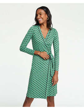 Petite Piped Tulip Wrap Dress by Ann Taylor