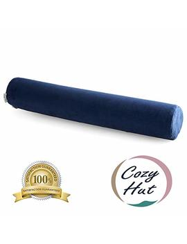 Cozy Hut Comfort Memory Foam Neck Roll Pillow Lightweight Round Cervical Support Pillow For Spine And Neck Back Support 24 X4 In. by Cozy Hut