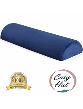 Cozy Hut Memory Foam Semi Roll Pillow Half Moon Bolster Knee Support Pillow For Side, Back, Stomach Sleepers For Sciatica Relief, Back Pain, Leg Pain With Washable Cover   24''l X 8''w X 4''h by Cozy Hut
