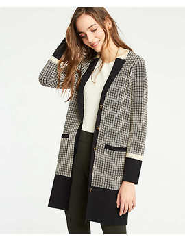 Petite Colorblock Plaid Coatigan by Ann Taylor