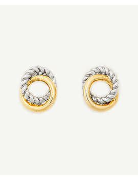 Twisted Metal Stud Earrings by Ann Taylor