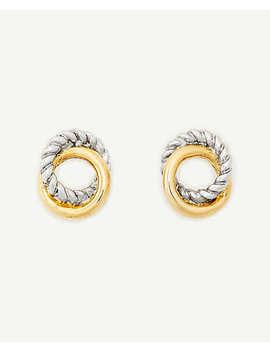 Twisted Metal Stud Earrings by Ann Taylor
