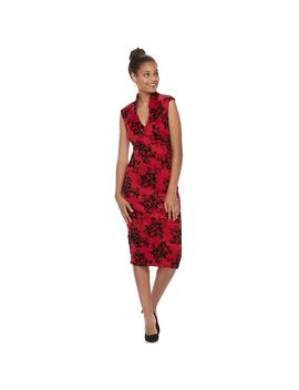 Juniors' Almost Famous Floral Ponte Bodycon Dress by Kohl's