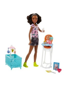 Barbie Skipper Babysitters Inc. Doll And Feeding Playset   Brunette by Barbie