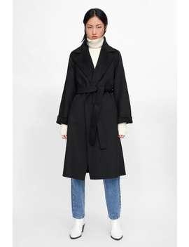 Manteau À Boutonnage CroisÉ Avec Ceinture  Tout Voir Manteaux Femme New Collection by Zara