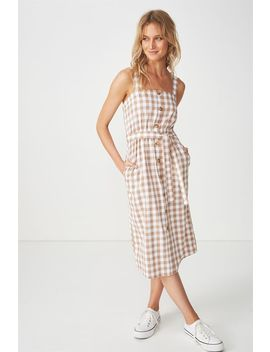 Woven Lyric Button Through Midi Dress by Cotton On