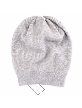 Way Soft 100 Percents Cashmere Beanie For Women In A Gift Box, Oversized Women Beanie Hat by Way Soft