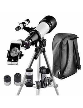 Telescope For Kids And Beginners Travel Scope 70mm Apeture 400mm Az Mount   With Backpack To Carry Easily   Travel Telescope To View Moon And Planet by Solomark
