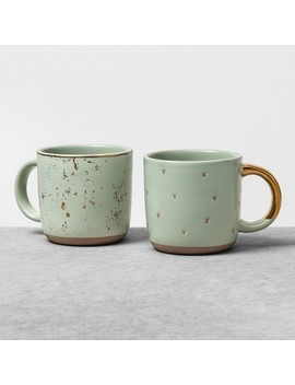 2pk Mug Speckled Green   Hearth & Hand™ With Magnolia by Shop Collections