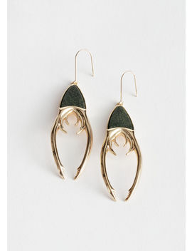 Beetle Claw Hanging Earrings by & Other Stories