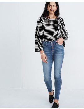 """Petite 10"""" High Rise Skinny Jeans In Cordova Wash: Button Front Edition by Madewell"""