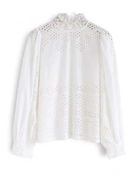When You Believe Eyelet Top by Chicwish