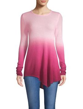 Asymmetric Dip Dye Cashmere Sweater by Lord & Taylor