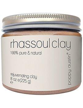 Rhassoul Clay Hair & Facial Mask (Ghassoul)   Vegan, Cruelty Free, Organic, All Natural Face Wash Powder & Rasul Clay Mask   Deep Pore Facial Cleanser, Blackhead Remover & Pore Minimiser by Poppy Austin