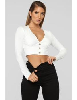 Something About Ya Crop Top   Ivory by Fashion Nova