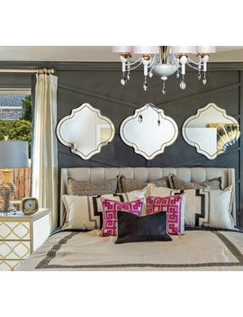 House Of Hampton Lavalle Quatrefoil Framed Accent Mirror by House Of Hampton