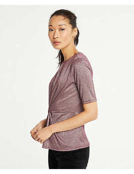 Shimmer Knot Top by Ann Taylor