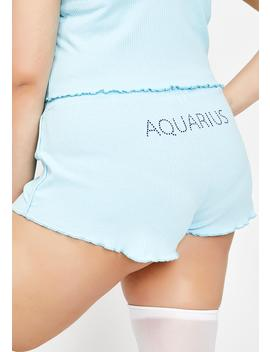 Actually Aquarius Af Pj Shorts by Horoscopez