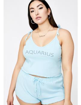 Actually Aquarius Af Pj Top by Horoscopez