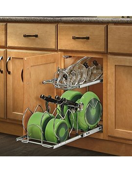 Rev A Shelf   5 Cw2 1222 Cr   12 In. Pull Out 2 Tier Base Cabinet Cookware Organizer by Rev A Shelf