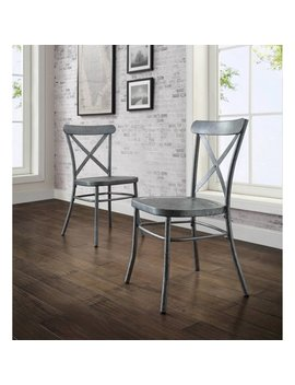 Better Homes And Gardens Collin Distressed Silver Dining Chair, Set Of 2 by Better Homes & Gardens