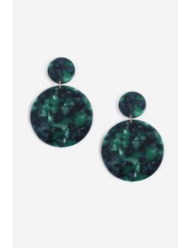 Resin Disc Drop Earrings by Topshop