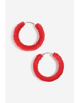 Christmas Sequin Hoop Earrings by Topshop