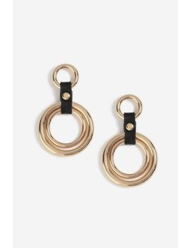 Pu Link Drop Earrings by Topshop