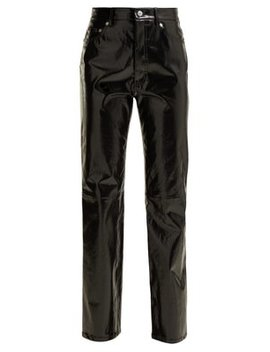 Straight Leg Patent Leather Trousers by Helmut Lang