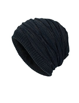 Dd Up Winter Beanie Hat Men Warm Knit Long Slouch Skull Cap Thermal With Soft Fleece Lining by Dd Up