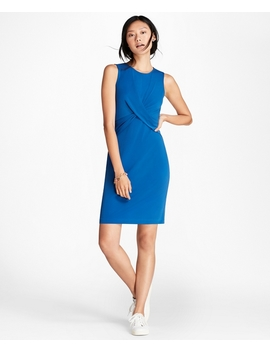 Draped Ponte Sheath Dress by Brooks Brothers