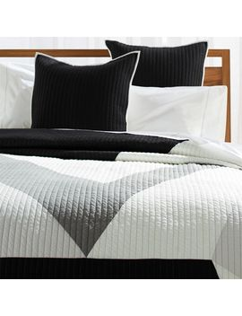 Gothenburg Channel Stitch Queen Quilt by Crate&Barrel