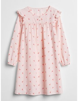 Big Dreams Ruffle Floral Pj Dress by Gap