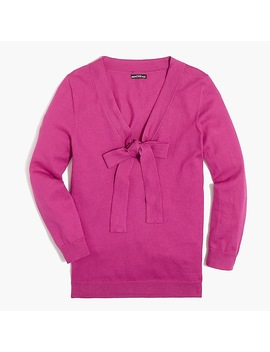 Bow V Neck Sweater by J.Crew