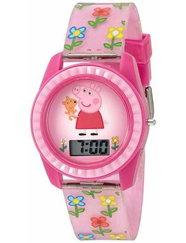 Peppa Pig Girl's Quartz Plastic Watch, Color:Pink (Model: Ppg4005) by Peppa Pig