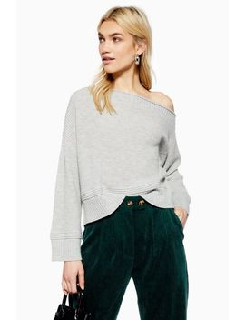 Off Shoulder Crop Jumper With Cashmere by Topshop