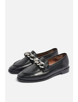 **Wide Fit Koppa Chain Loafers by Topshop