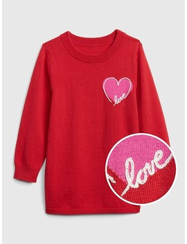 Embroidered Heart Tunic Sweater by Gap