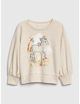 Graphic Balloon Sleeve Sweatshirt by Gap